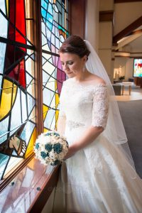 Bridal Portrait Richmond Virginia Our Lady of Lourdes Church