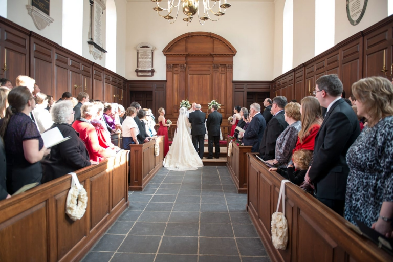 wedding at wren chapel William and Mary College
