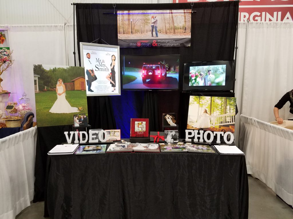 Our booth at the Wedding Show