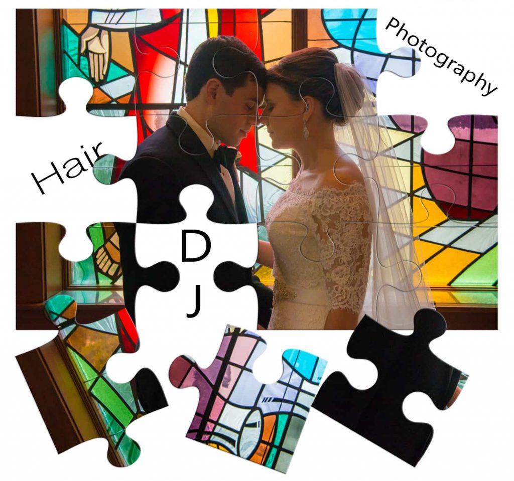 Puzzle bride and groom