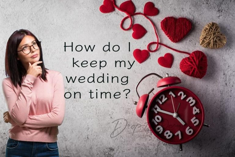 Keeping a wedding on time