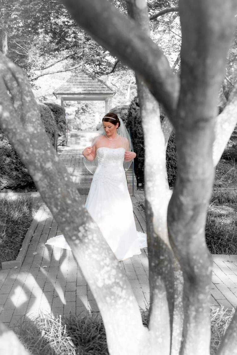 Bridal portrait at the Manor House at Kings Charter in Richmond, Va