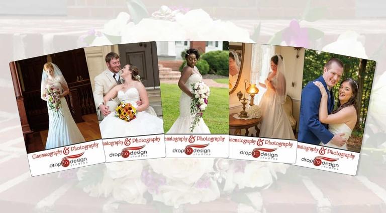 Drop to Design multiple bridal portraits diverse portfolio